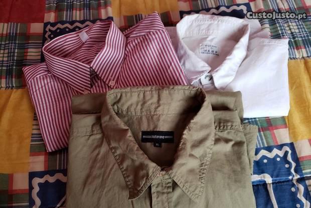 3 camisas de manga curta