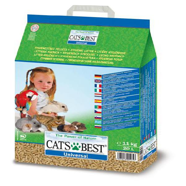 Areia universal p/ animal 11kg - cats best