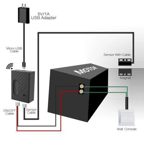 Modulo wi-fi para portão de garagemcompatível com ios /