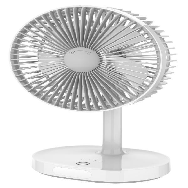 Ventoinha de mesa recarregável c/ luz led nocturna -