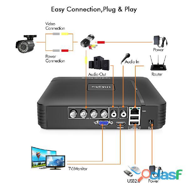 Sistema de videovigilância CCTV FullHD/1080p/2.0 mpx 4 Câmaras