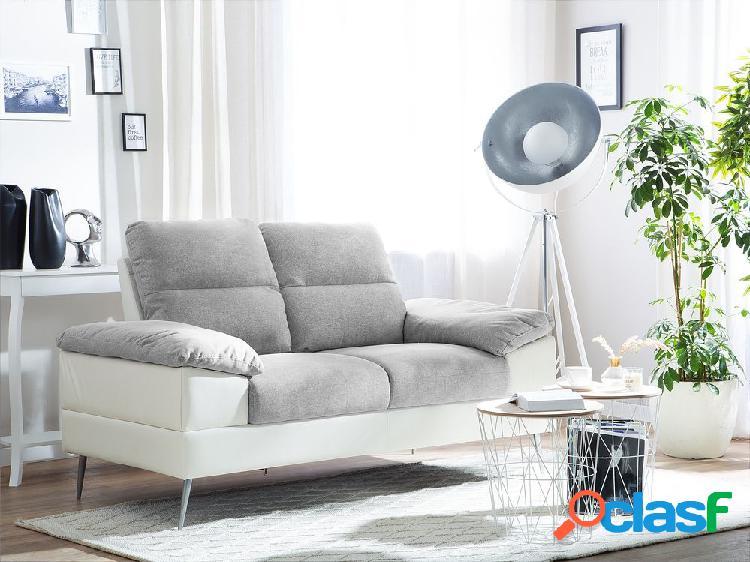 Sofá de 2 lugares em tecido cinza tjome