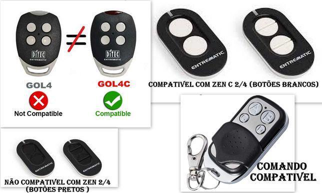 Comando de garagem compatível com ditec gol4c