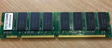 Memória ram dimm sdram 256mb pc133 133mhz 168-pin +portes