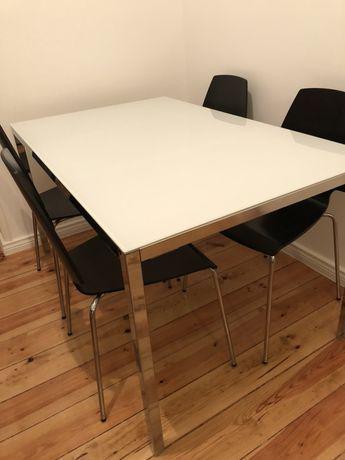 Mesa refeição + 4 cadeiras ikea