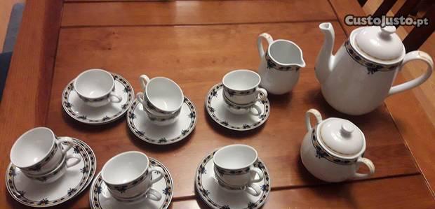 Serviço de café vista alegre em porcelana