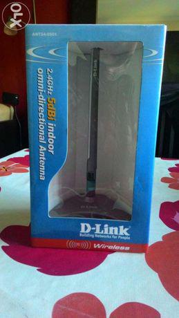 Antena wireless d-link rede wi-fi 2.4ghz 5dbi wi-fi nova