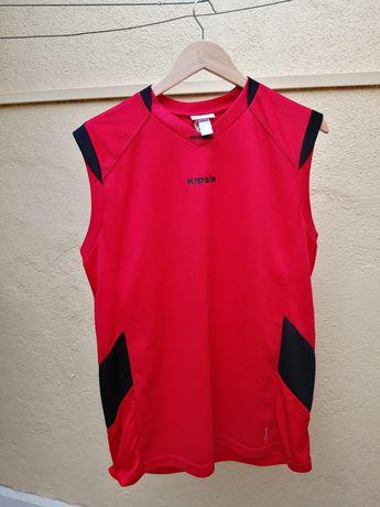 Camisola de alças, sem mangas, vermelha de desporto