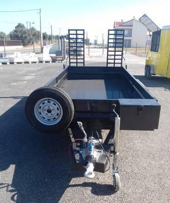 Atrelado reboque porta maquinas / carga geral