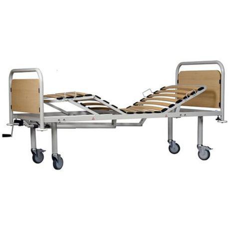 Cama articulada manual com grade, estrado e colchão