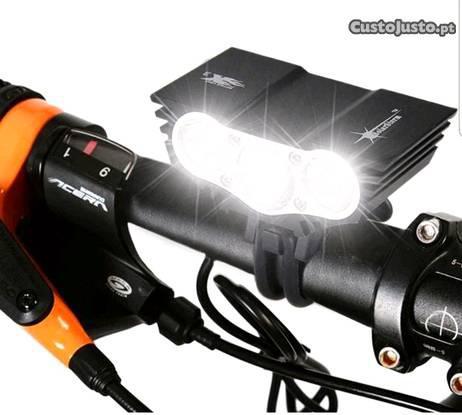 Lanterna solarstorm luz led bicicleta trail caça