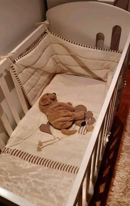 Berço cama grades bebê