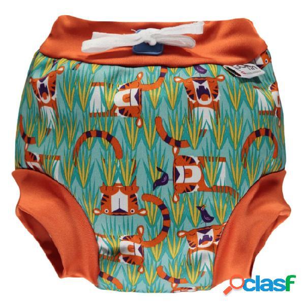 Close parent tiger calções de banho tamanho xl