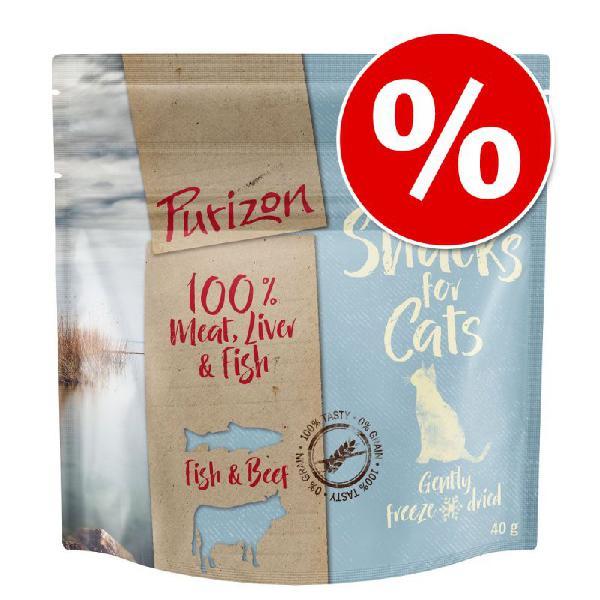 Purizon snacks para gatos 40 g com desconto!