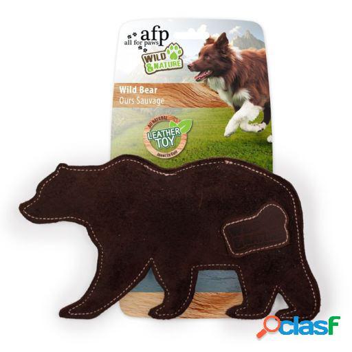 Afp brinquedo de couro selvagem e natureza urso 150 gr