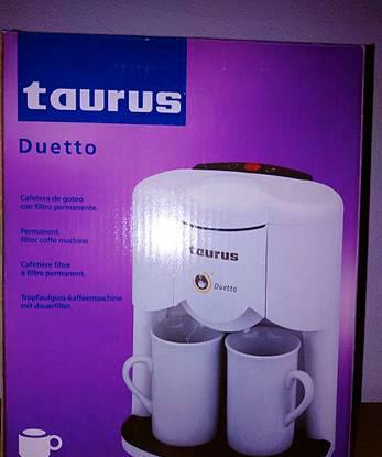 """Máquina café, marca """"taurus"""" p/ 1 ou 2 chávenas"""