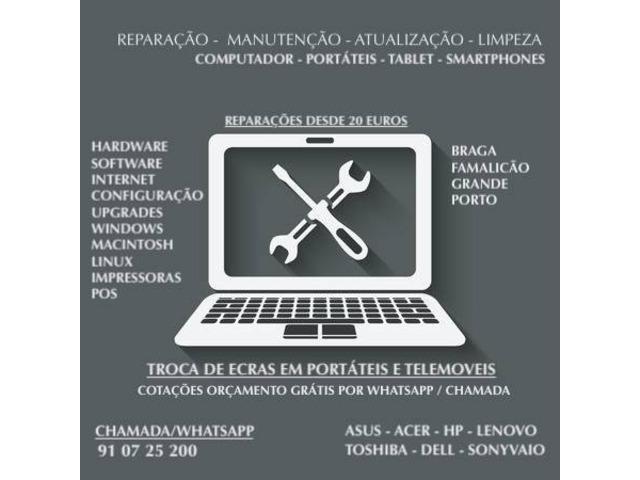 Técnico de informática / reparações de computadores e