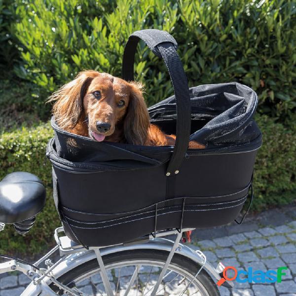 Trixie cesto de bicicleta traseiro animais estimação 29x49x60 cm preto