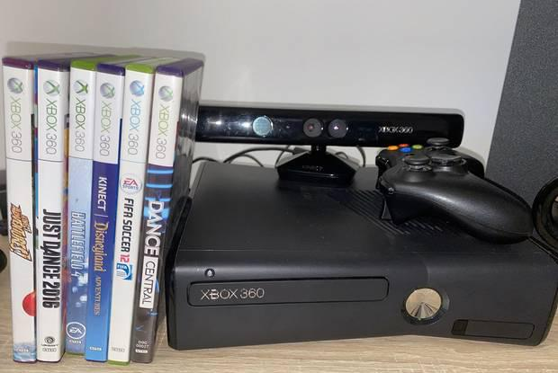 Xbox 360+console+kinect+jogos