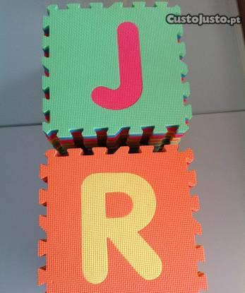 Tapete infantil tatami (puzzle) em eva - c/letras