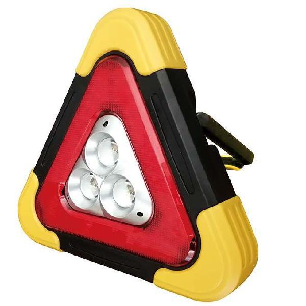 Triângulo de aviso luz emergência led 2000mah (ip44)