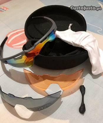 Culos desportivos 3 pares de lentes