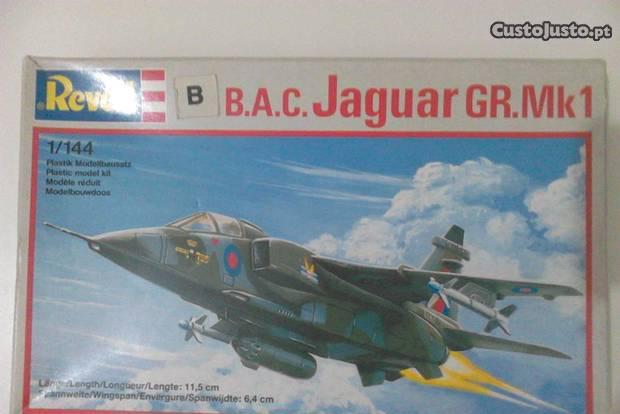 Avião b.a.c. jaguar gr.mk 1, revell, ano 1987
