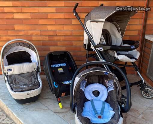 Conjunto carrinho de bebé trio chicco living