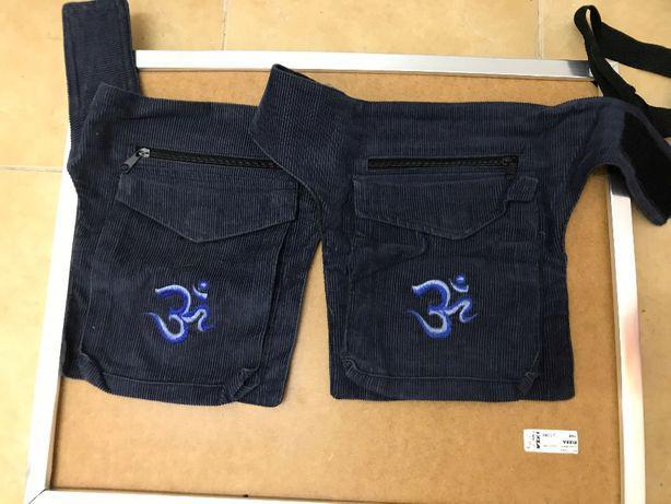 Bolsa de cintura com 2 bolsos