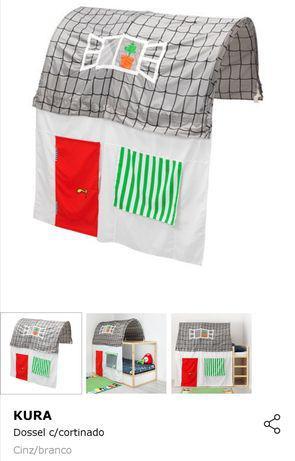 Cama beliche kura, com resguardo, 2 colchão e estrado