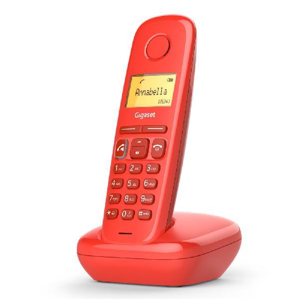 Telefone digital s/ fios (rede fixa) a270 (vermelho) -