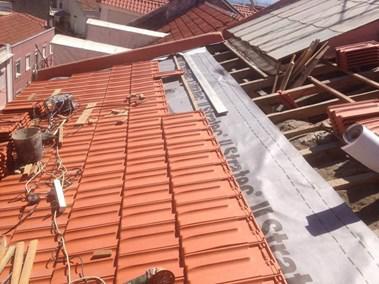Telhados - substituição, reparação