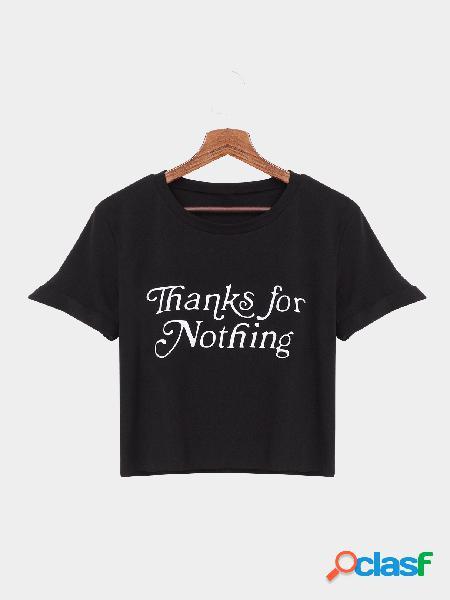 Obrigado preto para nada teste padrão da carta camiseta