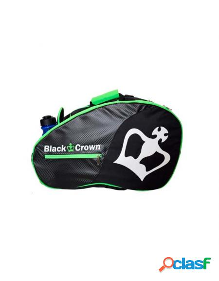 Paletero black crown negro verde - mochilas padel