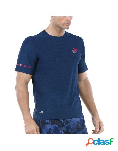 Bullpadel union 2020 camiseta azul - roupa padel bullpadel