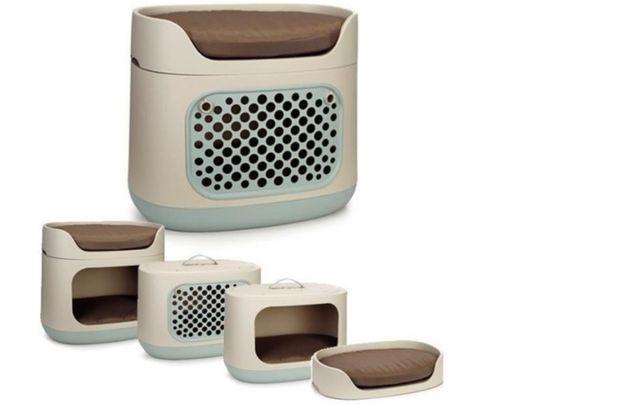 Cama caixa mala transporte gato cão animais bunkbed