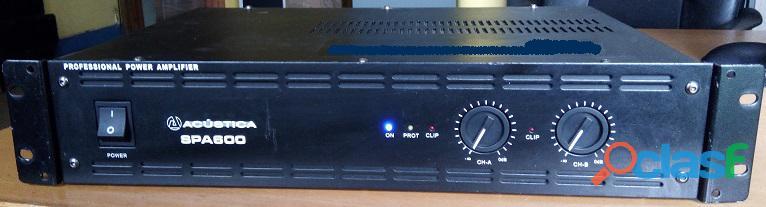 Amplificador de som profissional de 700w