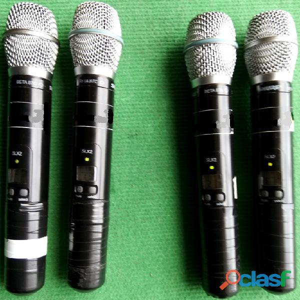 Shure sistemas sem fio 4+4+4 microfones 1