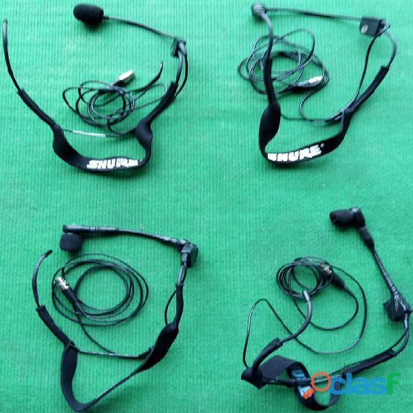 Shure sistemas sem fio 4+4+4 microfones 3