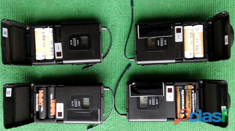 Shure sistemas sem fio 4+4+4 microfones 6