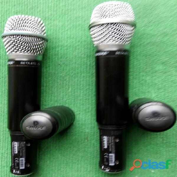 Shure sistemas sem fio 4+4+4 microfones 8