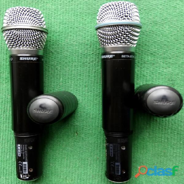Shure sistemas sem fio 4+4+4 microfones 9