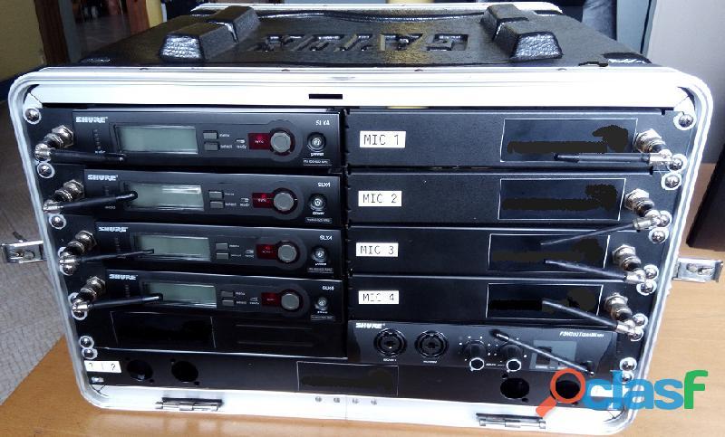 Shure sistemas sem fio 4+4+4 microfones 13