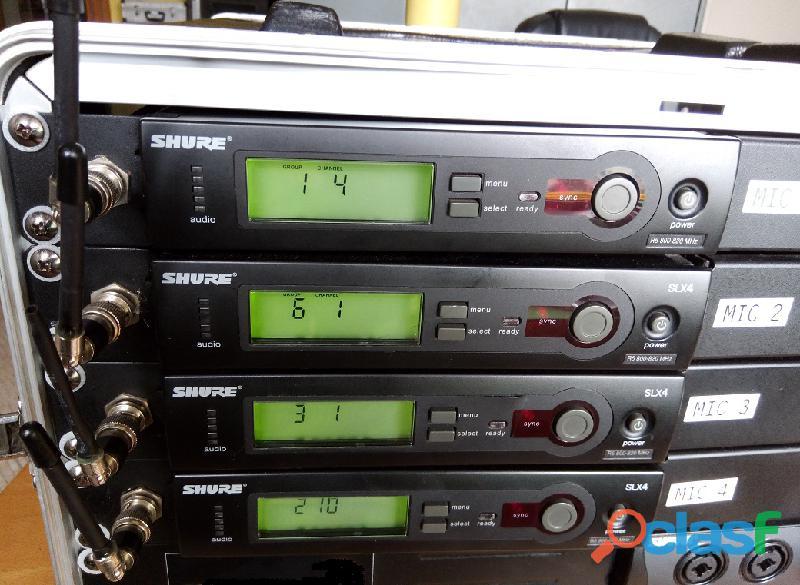 Shure sistemas sem fio 4+4+4 microfones 15