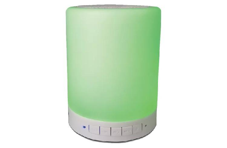 Coluna portátil 3w bluetooth c/ leds (incolor) - denver