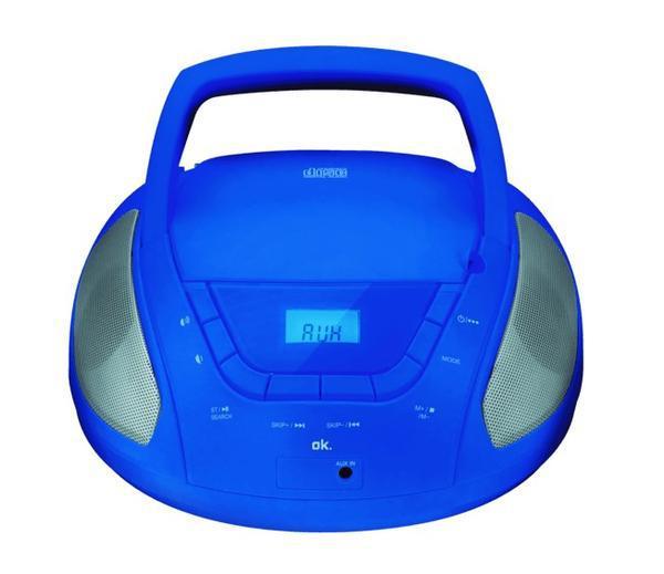Rádio portátil ok. orc 133 bl cd/fm-am azul