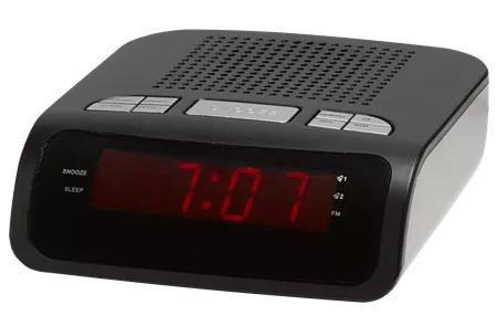 Relógio digital c/ rádio (preto) - denver
