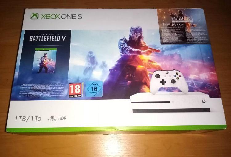 Xbox one s 1tb com garantia e 8 jogos