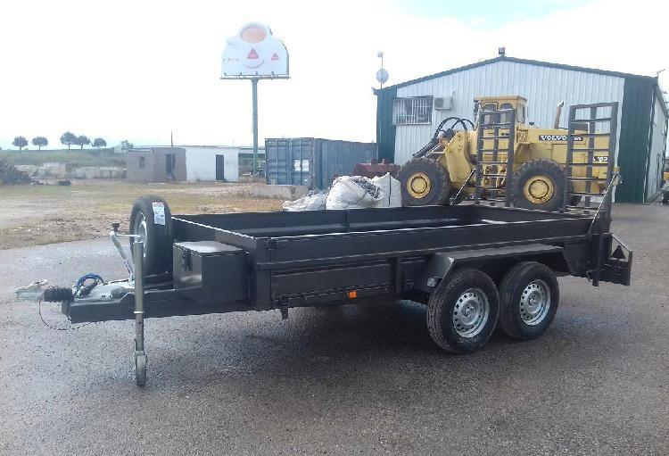 Atrelado reboque porta máquinas carga iva incluido