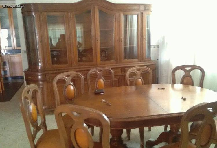 Mobília de sala de jantar móvel mesa e 4 cadeiras